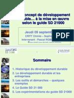 Sd 21000 Presentation Dev Durable Afaq 9-09-04