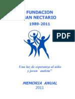 MEMORIA FUNDACION 2011