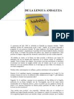 Historia de La Lengua Andaluza