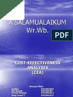 Cost-effectiveness Analysis Persentasi