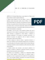 REGLAMENTO INTERIOR DE LA SECRETARÍA DE RELACIONES EXTERIORES