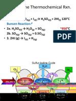 Jason Peck Sulphur Iodine Reaction for Hydrogen Production