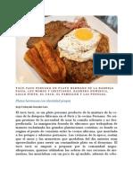 Tacu Tacu peruano y los platos hermanos