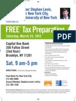 Tax Flyer Levin