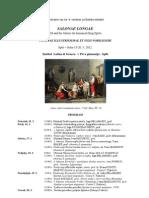Salonae Longae Program, 2012 (1)