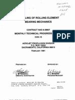 Modeling of Rolling Element Bearing Mechanics