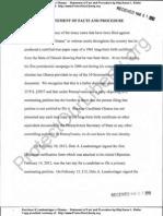 Kerchner & Laudenslager v Obama - Statement of Facts and Procedure by Atty Karen Kiefer - 1 Mar 2012