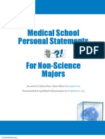 Med School Personal Statement for Non Science Majors