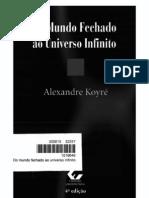 Koyre - Do Mundo Fechado Ao Universo Infinito