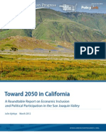 Toward 2050 in California