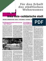 Für den Erhalt  des städtischen  Wohnraumes (06/2006)