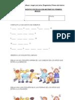 Prueba de Diagnostico de Educacion a Primero Basico (1)