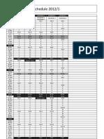 Intensive Schedule