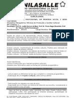 OFICINAS DE PRODUÇÃO E GESTÃO CULTURAL