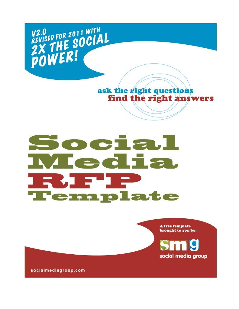 Social Media Rfp Template | Redes sociales y digitales