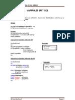 Variables en T-SQL
