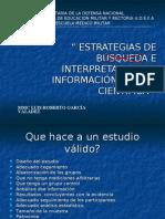 Interpretacion de Artículos médicos con metodología MBE