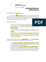Los materiales didàcticos. Medios y Recursos examen final romero