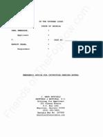 GA - 2012-03-12 - SWENSSON v OBAMA (Appeal SCOGA) - Emergency Motion for Injunction Pending Appeal