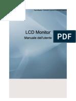 Manuale Per Modelli Sync Master T200HD-T220HD-T240HD-T260HD