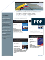 Boletín Novedades Bibliográficas Marzo