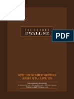 The Corner at Wall Street Brochure