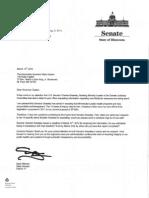 Request for copy of Gov Dayton & HMO's response to US Sen. Grassley