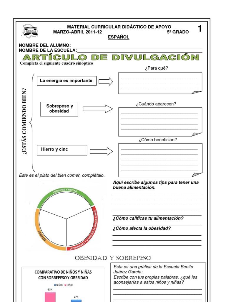 Lujoso Volumen Hojas De Trabajo De Quinto Grado Componente - hojas ...