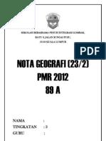 Nota Geografi Tingkatan 1,2 dan 3 (PMR)