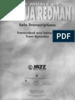 The Music of Joshua Redman - Solo Transcriptions