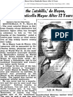 DeHoyos Out as Mayor (NYT), 4/1/1947