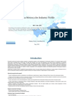 China Motorcycles Industry Profile Isic3591