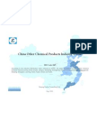 China Other Chemical Products Industry Profile Isic2429