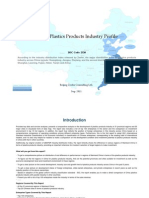 China Plastics Products Industry Profile Isic2520