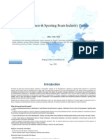 China Pleasure Sporting Boats Industry Profile Isic3512