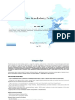China Stone Industry Profile Isic2696