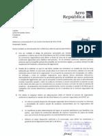 Respuesta Aero Republica a carta P114 enviada por ACDAC