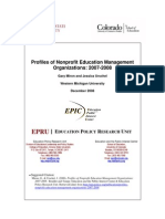 Profiles Nonprofit Education Management Organizations 2007 2008