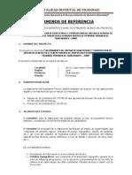 Terminos de Refer en CIA - Mejoramiento de Sistema de Agua Potable Juan Velasco Alvarado