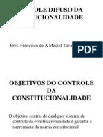 Controle Difuso de Constitucionalidade
