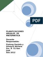 Matematica-planificacion de 5º y 6º 2012