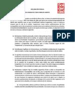 Declaracion Condena Toda Forma de Aborto Solidaridad UC