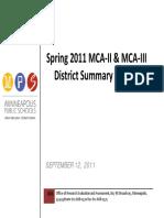 2011 MPS MCA II and MCA III