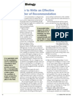 How to Write an Effective Letter of Recommendation