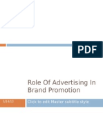 Role of Advertising in Brand Promotion Ppt