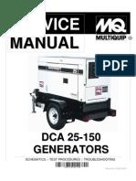 dca25 150 service manual insulator electricity electric power rh scribd com Generator Diagram Residential Standby Generator Wiring Schematic