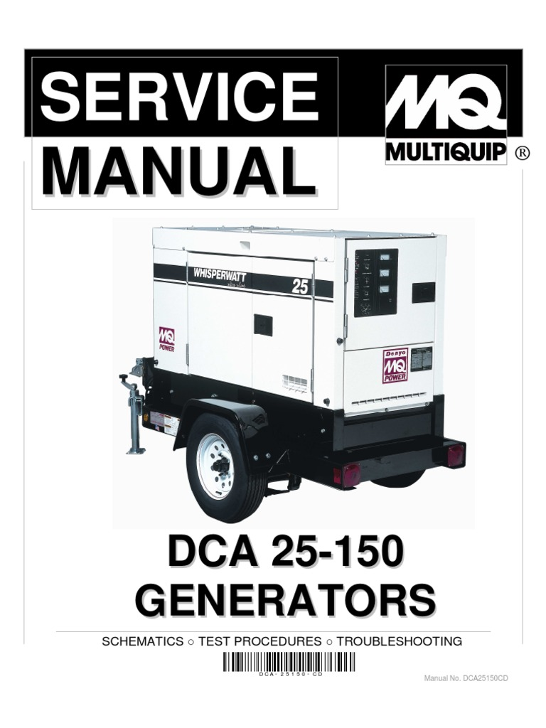 Dca25 150 service manual insulator electricity electric power asfbconference2016 Choice Image
