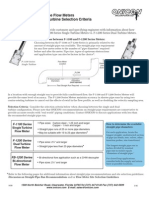 Insertion Turbine Flow Meters Selection and Site Selection