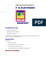 What is Electronic Banking Mini