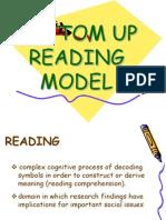 Bottom Up Reading Model